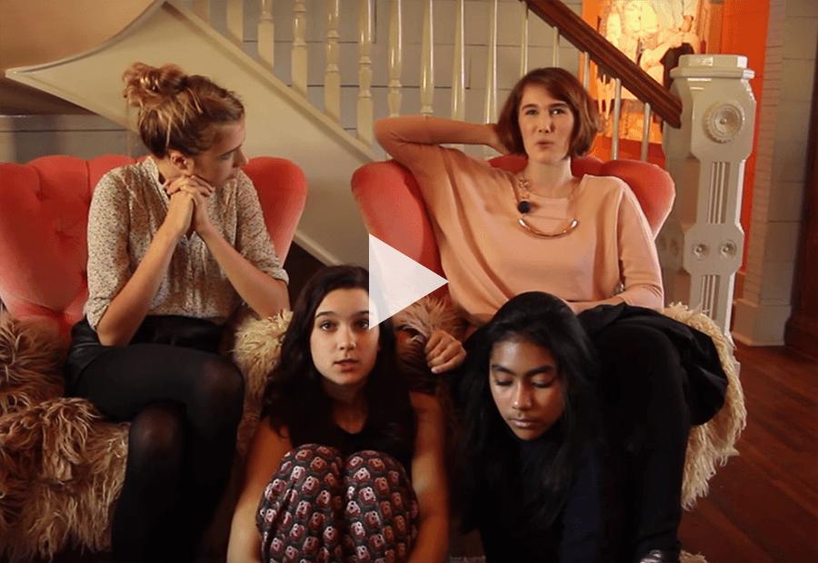 4 ladies in a sofa