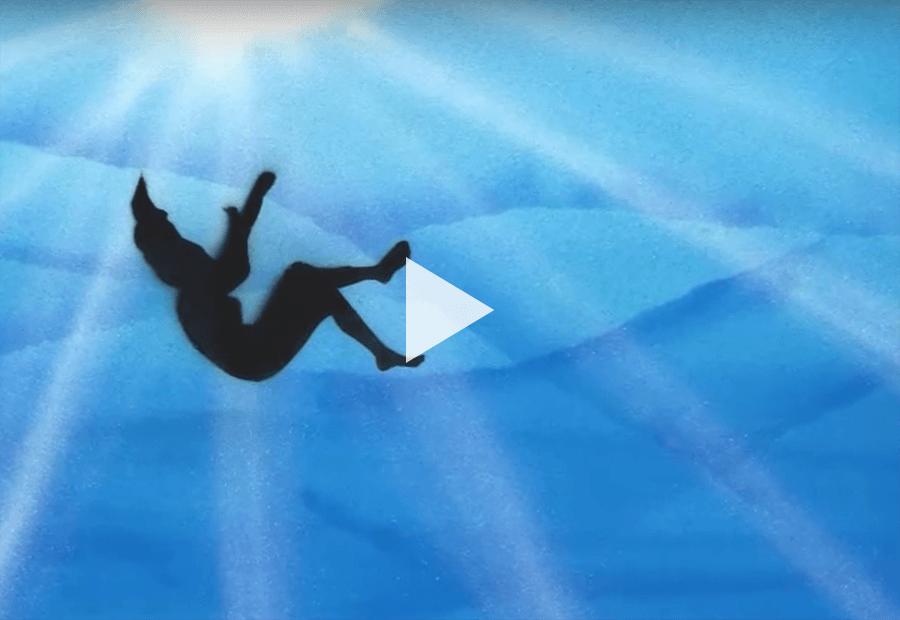 illustration of a girl falling