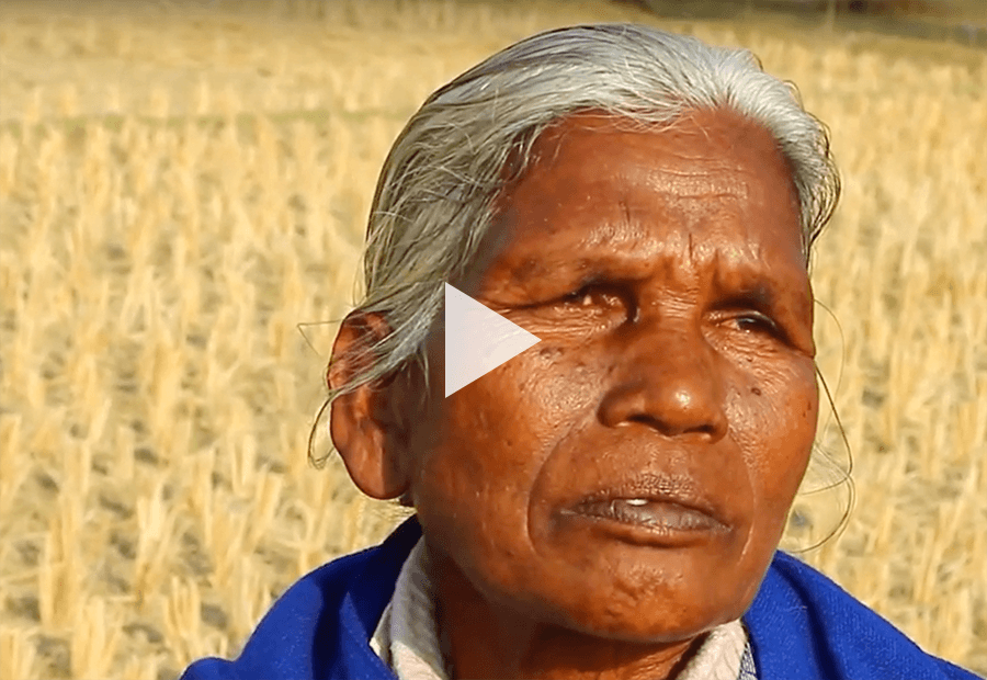 Tribal woman looking away