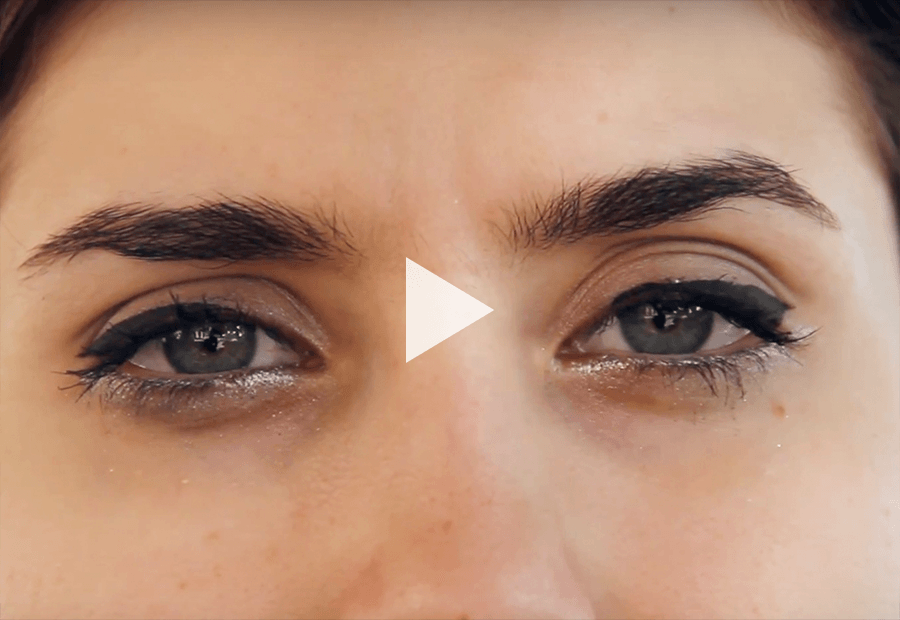 crying eyes of a woman