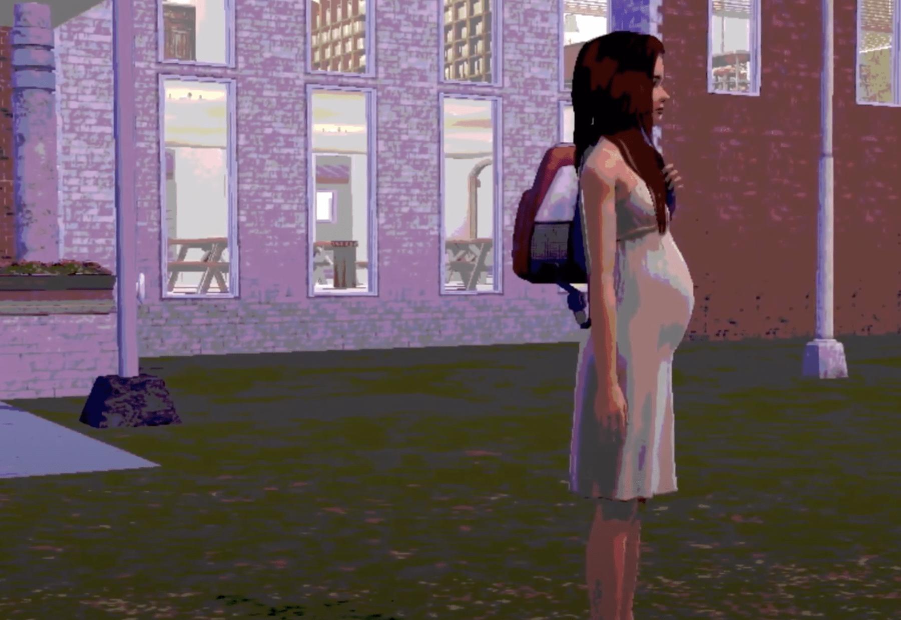 an animation of a teen pregnancy
