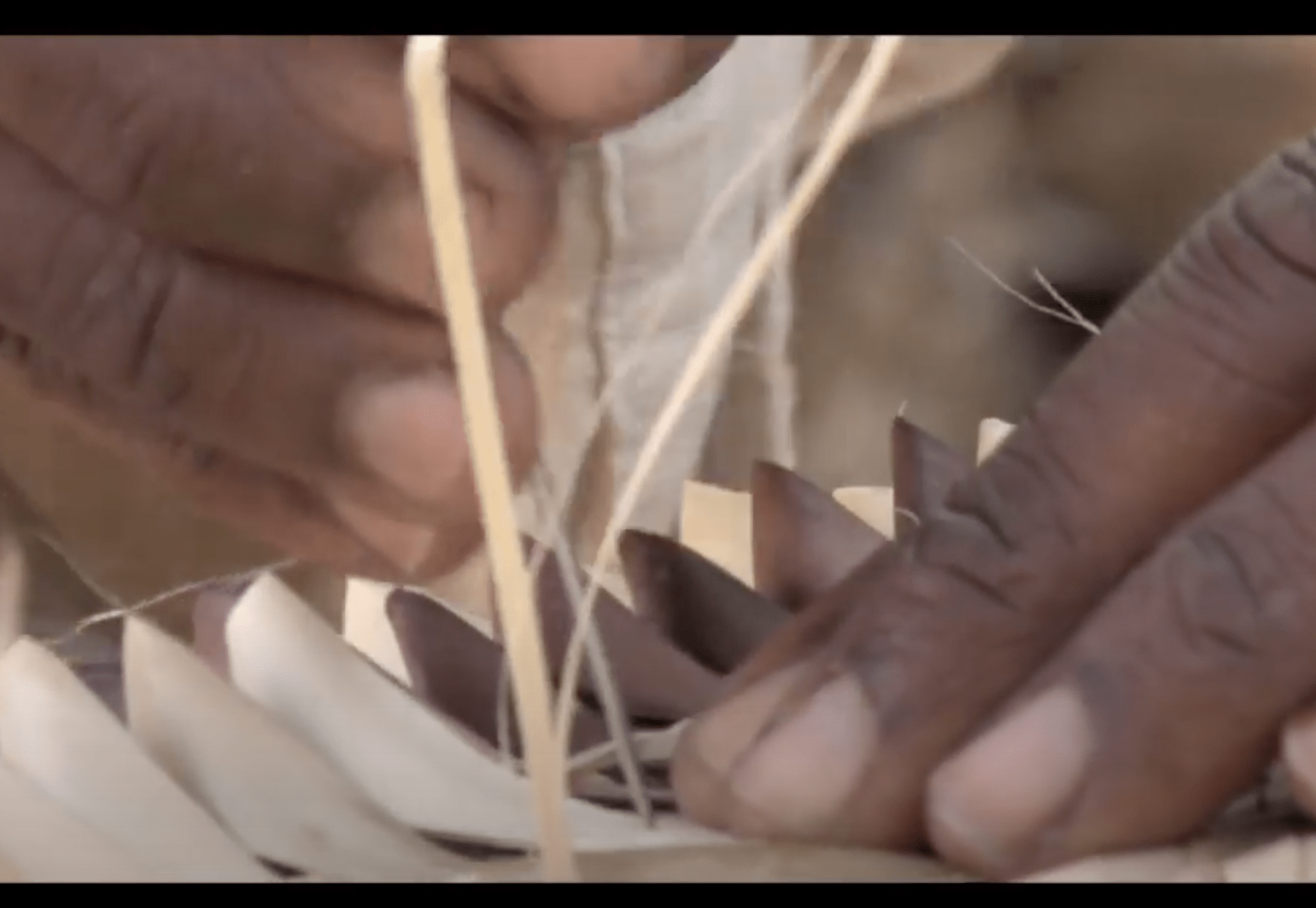 African American woman hands doing hadcrafts